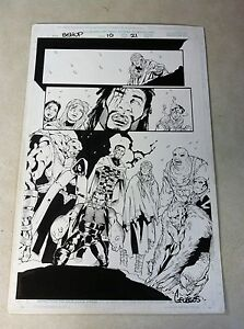 BISHOP #10 original comic artwork SPLASH, SIGNED, WICKED COOL, X-MEN!!