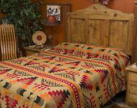 Western Indian Design Blanket Bedspread -Pueblo Queen | eBay