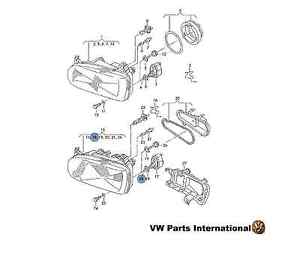VW GOLF MK3 HEADLIGHT ADJUSTER SCREW FOR RANGE CONTROL