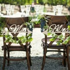 Mr And Mrs Chair Signs Pink Office Chairs South Africa 7in Ebay Item 1 Wedding Rustic Wood Diy Sign Arrow Home Party Decor New
