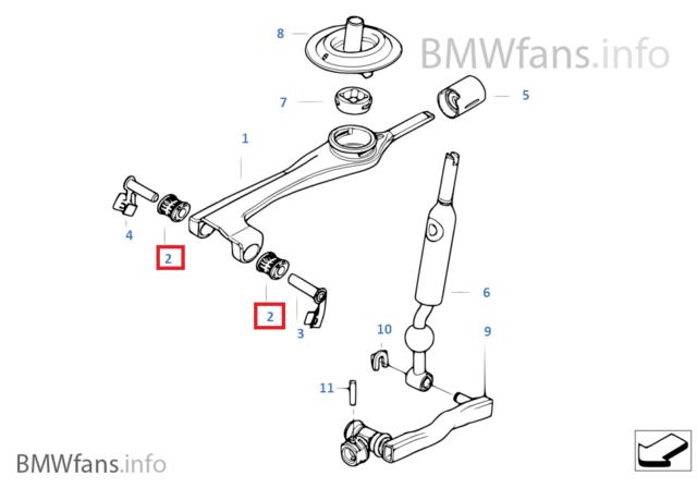 New BMW E46 Gearshift Manual Transmission Bush Bearing