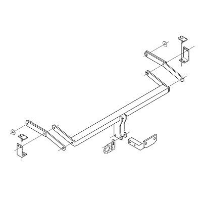 Towbar for Fiat Stilo Multiwagon Estate / Est 2003-2007