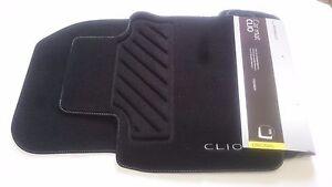 details about jeu 4 tapis de sol textile original renault nouvelle clio iv 4 premium 2012 2019