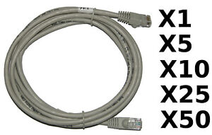 RJ45 CAT5E Ethernet Network Cable Gray New 7' 7 FT Foot
