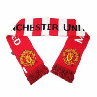 MANCHESTER UNITED SCARF OFFICIAL AUTHENTIC NEW SOCCER MUFC ...