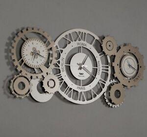 orologio a pendolo, noto per la sua grande eleganza e, soprattutto, per la sua grande precisione nella misurazione del tempo. Orologio Da Muro Parete Moderno Steampunk Fuso Meccano Design Arti E Mestieri Ebay