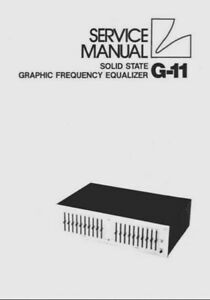 LUXMAN G-11 Stereo Graphic Frequency Equalizer EQ Hifi
