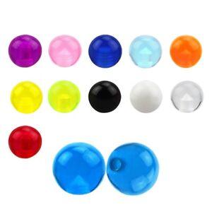 1,6 mm Ø Schraubkugel, Piercingkugel - Ersatz - Acryl (diverse Farben)