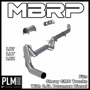 details about mbrp 4 exhaust for 2001 2010 duramax 6 6l lb7 lly lbz lmm aluminized s6004plm