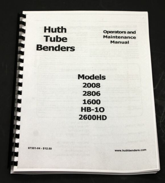 huth exhaust pipe bender model 2007 bend pak ben pearson 220volt 3 phase