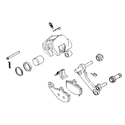 Brake Caliper Rebuild Kit~1983 Yamaha XJ750R Seca Street