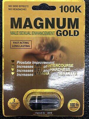 Male Enhancement Pills MAGNUM GOLD 100K 3 For $26 | eBay
