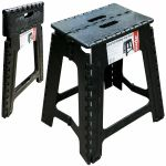 Extra Tall Large Folding Step Stool Black Plastic Strong Home Kitchen Easy Carry For Sale Online Ebay