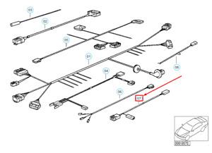 NEW BMW 3 E36 GLOVE BOX LIGHT ADAPTER LEAD 61128366287