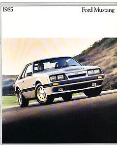 1985 Mustang Lx : mustang, Mustang, 26-page, Sales, Brochure, Catalog, Convertible