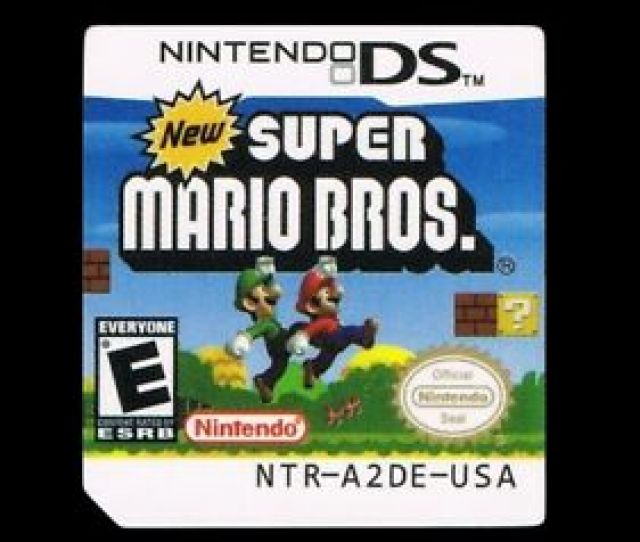 Image Is Loading New Super Mario Bros Ds Replacement Label Sticker