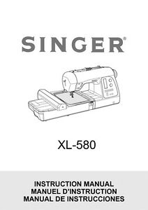 Singer XL-580-FUTURA Sewing Machine/Embroidery/Serger