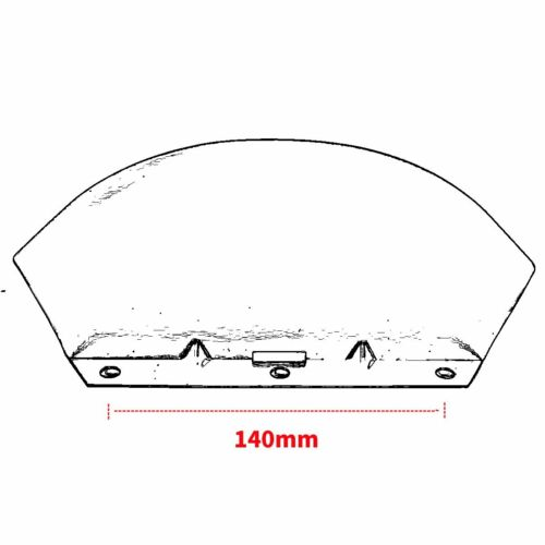 Pare-brise Chrome Lower Triple Tree Wind Deflector For