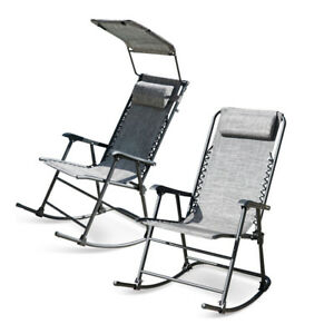 zero g garden chair swivel desk foldable gravity rocking patio lounge recliner outdoor image is loading
