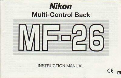 Nikon MF-26 Multi-Control Back Genuine Instruction Book