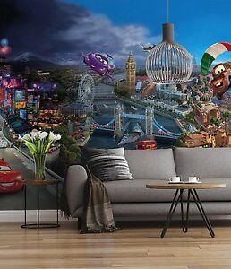 carta da parati collezioni classiche; Disney Carta Da Parati Murale Parete Per Camera Da Letto Dei Bambini Poster Gigante Stile Auto World Ebay