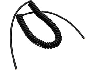 1T 4 Core PIN 2,5m Black Colied Flexible Microphone Mic