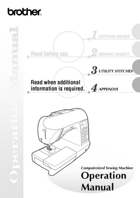 Brother NX-650Q Sewing Machine Owners Instruction Manual