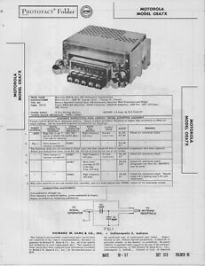 1957 MOTOROLA OEA7X RADIO SERVICE MANUAL PHOTOFACT