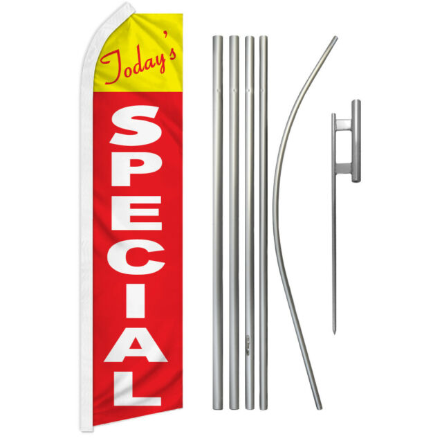 Today's Special Swooper Flutter Feather Advertising Flag Kit Today's Deal Sale | eBay