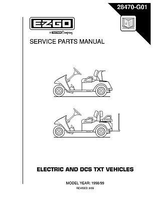 1998 1999 E-Z-GO Gas & Electric TXT Vehicles Golf Car