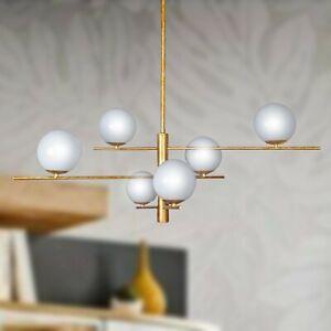 Irruzione di luce che si riflette e rimbalza sulla superficie cristallina di sfere luccicanti. Lampadario A Sospensione Design Moderno 6 Luci Con Sfere In Vetro Soffiato Ebay