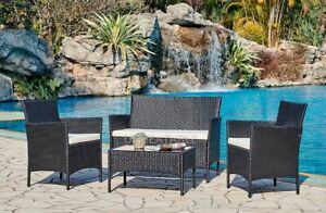 details about rattan garden furniture set conservatory patio outdoor table chairs sofa cover