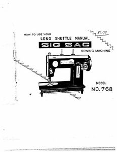 White W768 Sewing Machine/Embroidery/Serger Owners Manual