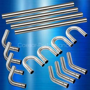 details about 2 5 custom exhaust tubing mandrel bend pipe straight u bend kit