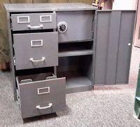 Vintage Cole Steel Equipment Metal Filing Cabinet w/ 3 ...