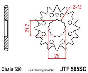 JT 13T Front Sprocket Yamaha DT/YZ 250, DT/MX/RT/YZ 360