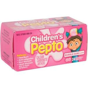 Children's Pepto Bubble Gum Flavor 24 Chewable Tablets ...