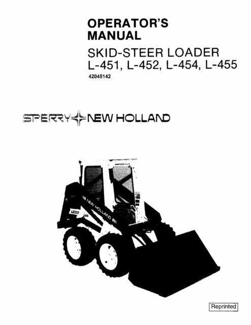 NEW HOLLAND L451 L452 L454 L455 SKID-STEER LOADER