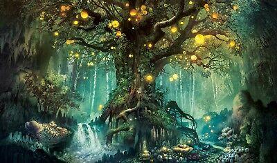 latest house interior design fantasy forest tree scape art poster eBay