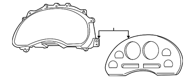 1999-2004 FORD MUSTANG INSTRUMENT DASH PANEL COVER GENUINE