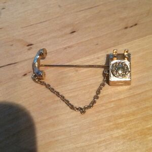 Vintage Avon Rotary Gold Tone Telephone Tie Pin eBay
