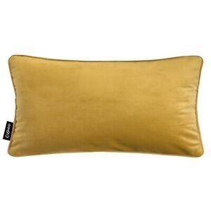details about 100 velvet cushion tan mustard yellow gold ochre rectangle oblong sofa cover