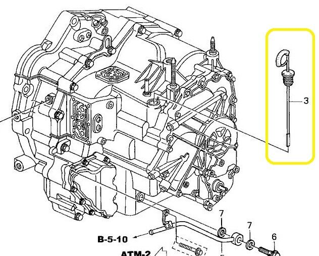 Genuine OEM Honda Automatic Transmission Dipstick ATF CR-V
