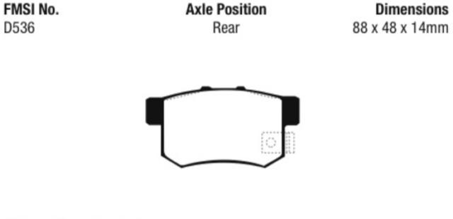 EBC Ultimax Sport Brake Rear Pad Set for 95-99 Odyssey