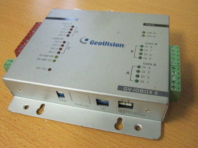 Geovision GV-IO Box 8 provides 8 inputs and 8 relay outputs (GVIOBOX8) for sale online | eBay