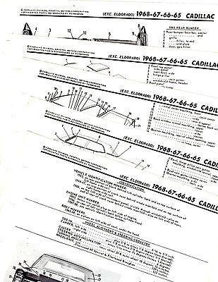 1965 1966 1967 1968 CADILLAC DE VILLE FLEETWOOD MOTOR'S