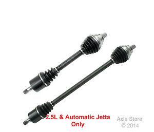 2 New CV Axles VW Jetta 2006,2007,2008 2.5L Automatic Both