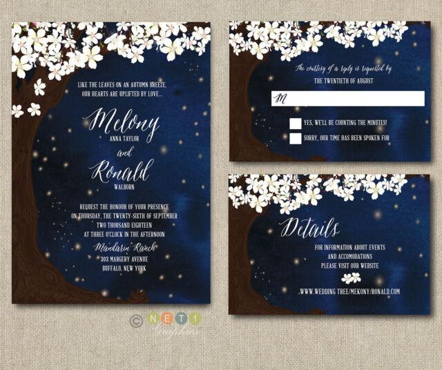 Starry Night Wedding Invitations