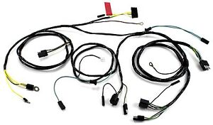 Mustang Head Light Wiring Harness With Gauges All 1966