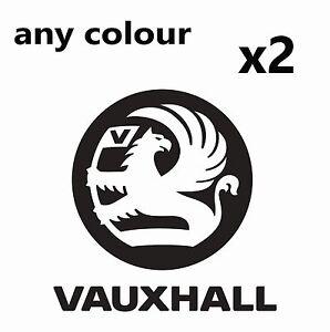 2 x Vauxhall Logo Stickers Corsa Astra Zafira INSIGNIA VXR